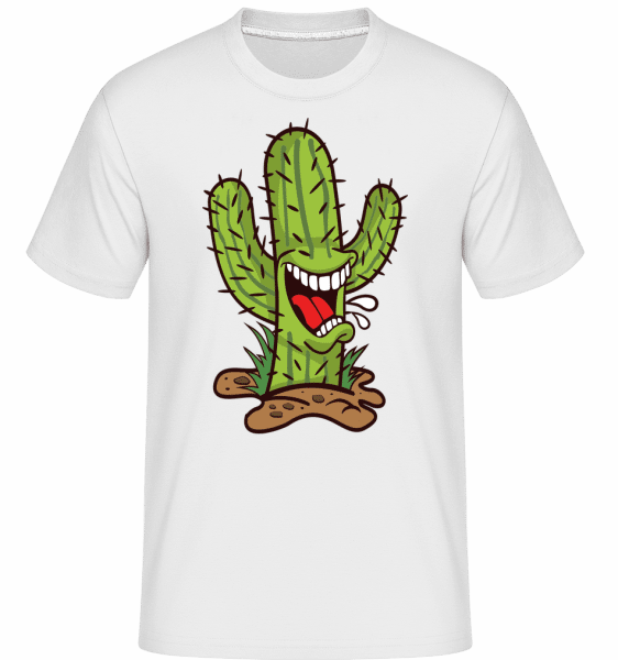 Cactus Mouth -  Shirtinator Men's T-Shirt - White - Front