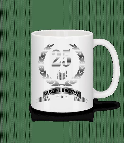 25 Jahre Silberne Hochzeit - Tasse - Weiß - Vorn
