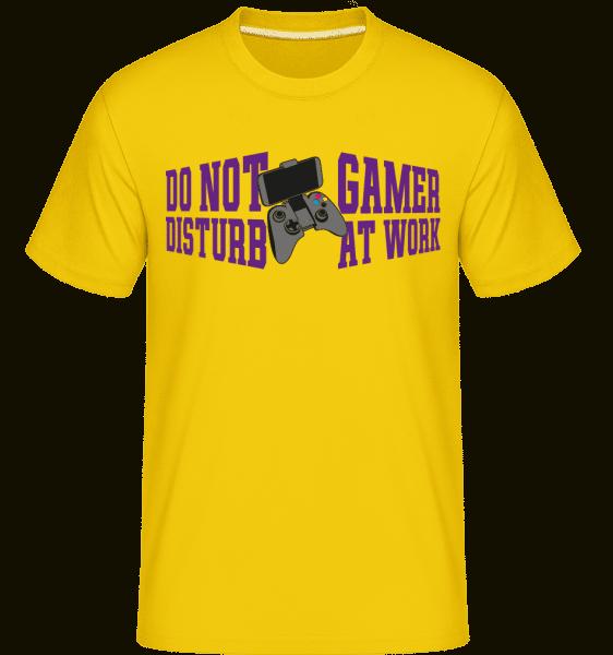 Do Not Disturb Gamer At Work -  Shirtinator Men's T-Shirt - Golden yellow - Front