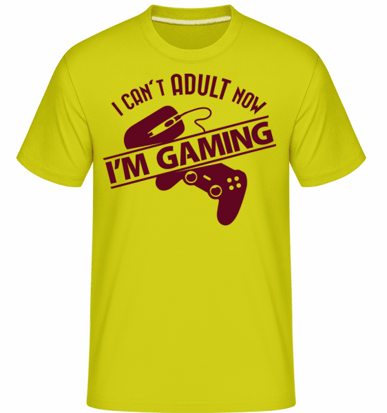 I Can't Adult Now, I'm Gaming -  Shirtinator Men's T-Shirt - Apple green - Vorn