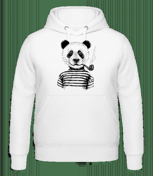 Hipster Panda - Hoodie - White - Vorn