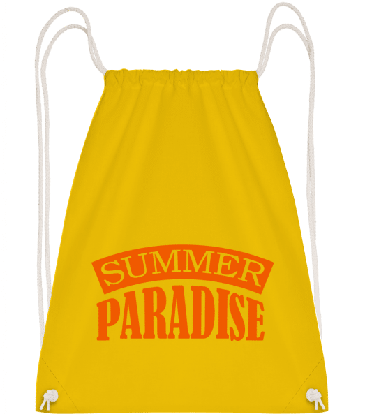 Summer Paradise Orange - Turnbeutel - Gelb - Vorn
