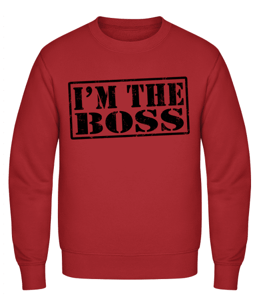 I'm The Boss - Classic Set-In Sweatshirt - Red - Vorn