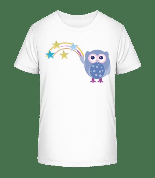 Cute Owl With Stars - Kid's Premium Bio T-Shirt - White - Vorn
