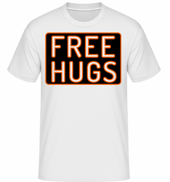 Free Hugs -  Shirtinator Men's T-Shirt - White - Vorn