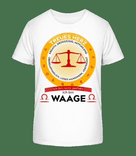 Sternzeichen Waage - Kinder Premium Bio T-Shirt - Weiß - Vorn