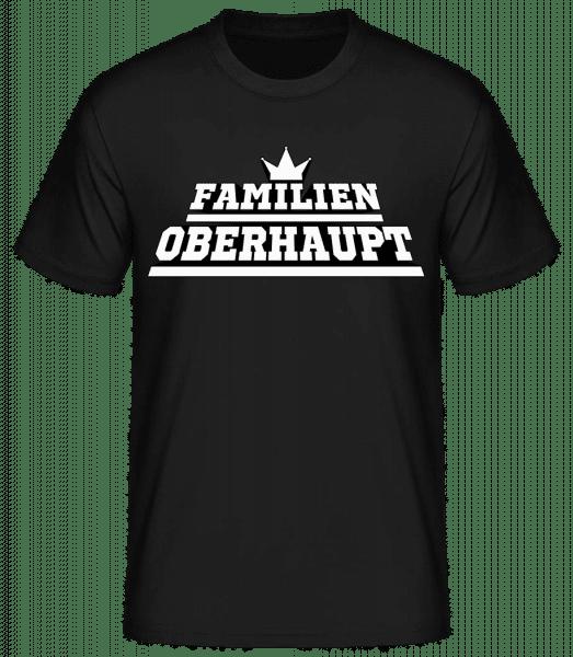 Familien Oberhaupt - Basic T-Shirt - Schwarz - Vorn