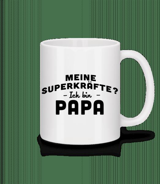 Superkräfte Papa - Tasse - Weiß - Vorn