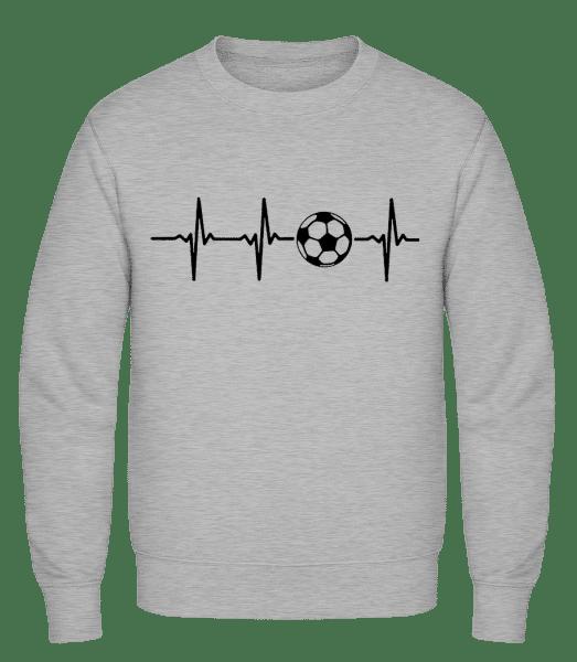 Heart Rate Football - Männer Pullover - Grau Meliert - Vorn