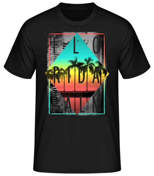 Florida Palm - Basic T-Shirt - Black - Vorn
