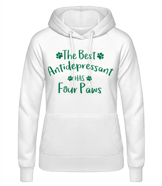 The Best Antidepressant - Women's Hoodie - White - Vorn