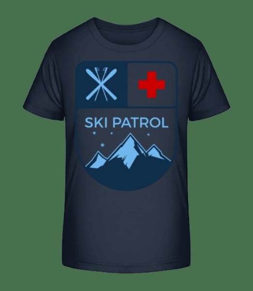 Ski Patrol Icon - Kid's Premium Bio T-Shirt - Navy - Vorn
