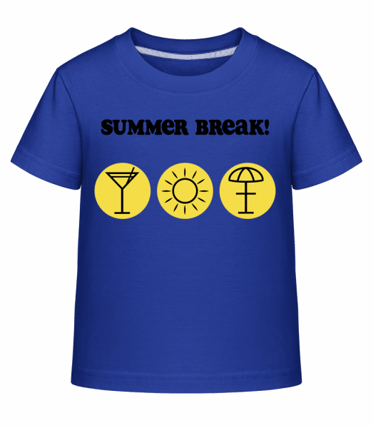 Summer Break! - Kid's Shirtinator T-Shirt - Royal blue - Vorn