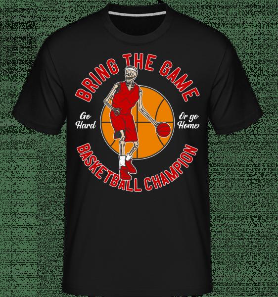 Bring The Game -  Shirtinator Men's T-Shirt - Black - Front