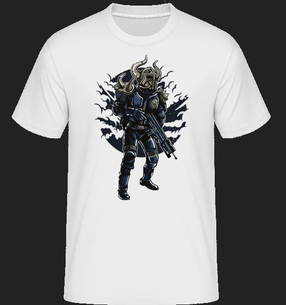 Viking Soldier -  Shirtinator tričko pre pánov - Biela - Predné