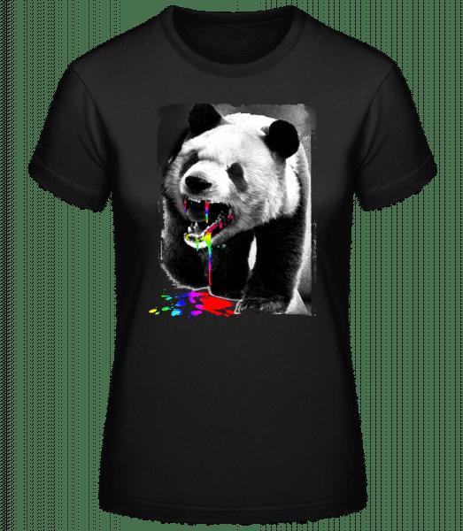 Panda A Mangé Licorne - T-shirt standard femme - Noir - Vorn