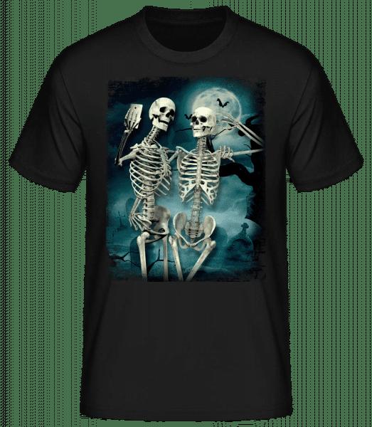 Skeleton Selfie - Men's Basic T-Shirt - Black - Vorn