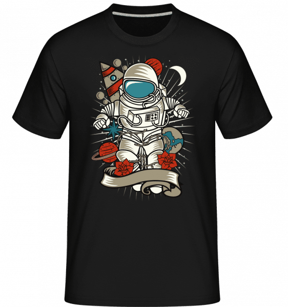Astronaut 1 -  Shirtinator Men's T-Shirt - Black - Front