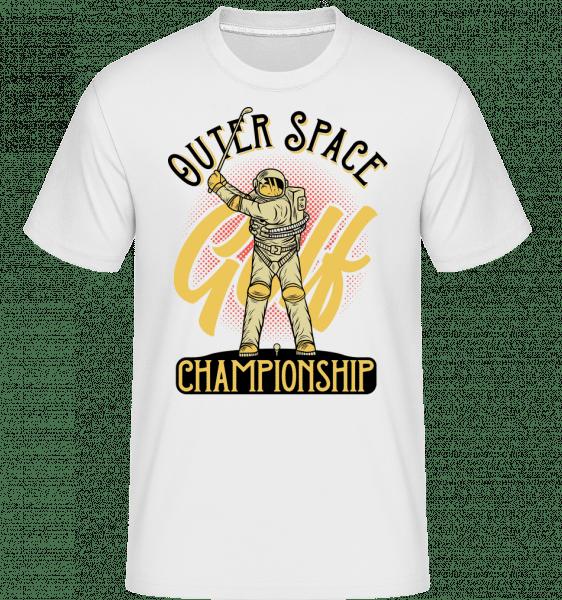 Space Golf Championship -  Shirtinator Men's T-Shirt - White - Front