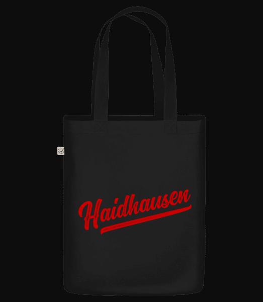 Haidhausen Swoosh - Bio Tasche - Schwarz - Vorn