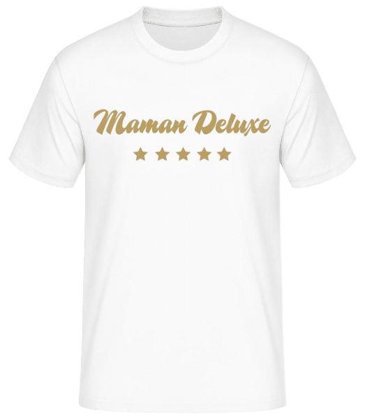 Maman Deluxe - Or - T-shirt standard homme - Blanc - Vorn