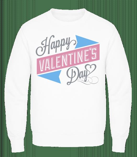 Happy Valentine's Day - Men's Sweatshirt AWDis - White - Vorn