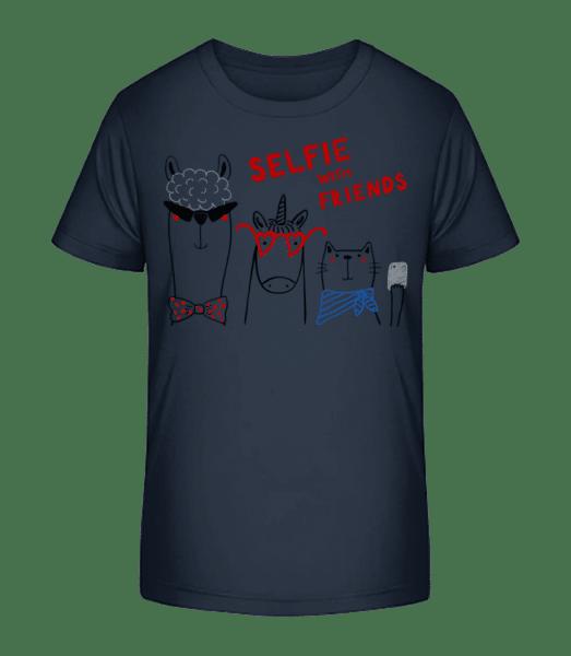 Chrliči s přáteli - Detské Premium Bio tričko - Namořnická modrá - Napřed