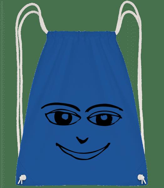 Happy Face Symbol Black - Drawstring Backpack - Royal blue - Vorn