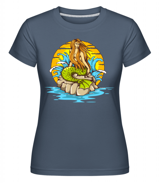 Mermaid -  Shirtinator Women's T-Shirt - Denim - Vorn