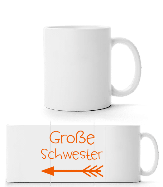 Große Schwester - Panoramatasse - Weiß - Vorn