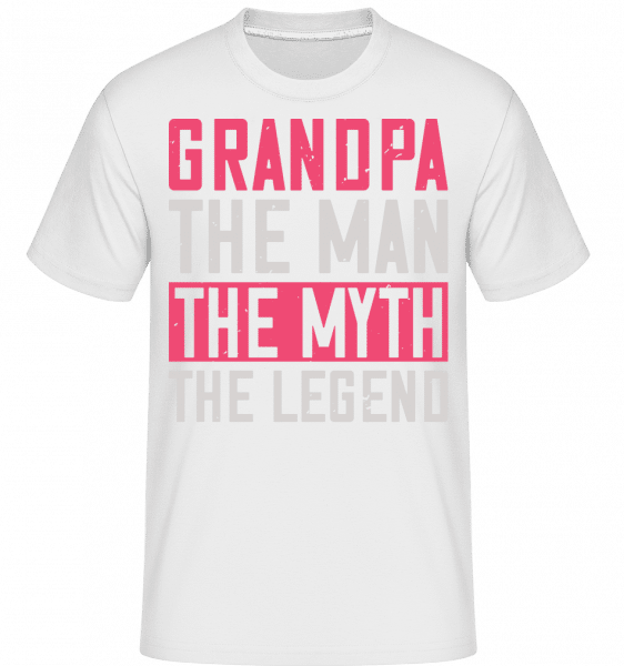 Grandpa The Myth -  Shirtinator Men's T-Shirt - White - Vorn