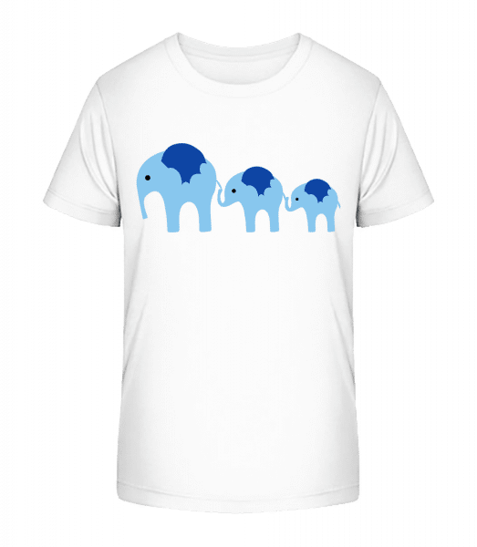 Elephants Family Baby - Kid's Premium Bio T-Shirt - White - Vorn