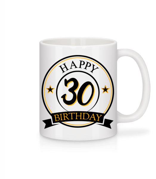 Happy Birthday 30 - Tasse - Weiß - Vorn
