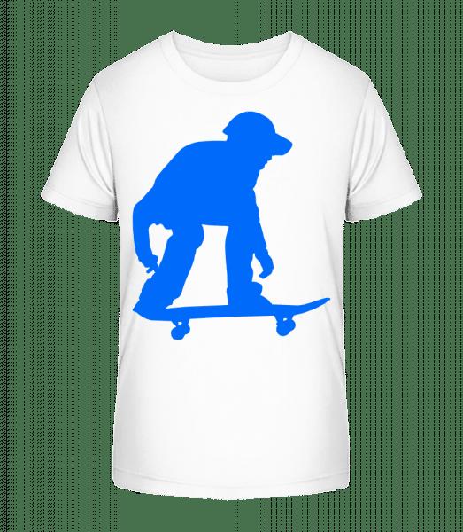 Skater Ready - Kid's Premium Bio T-Shirt - White - Vorn