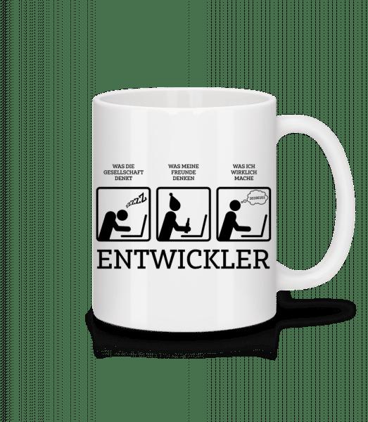 Entwickler Comic - Tasse - Weiß - Vorn