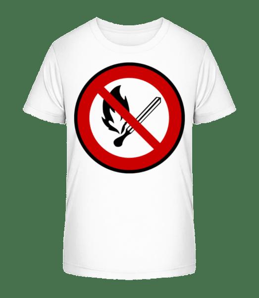 Fire Forbidden - Kid's Premium Bio T-Shirt - White - Vorn