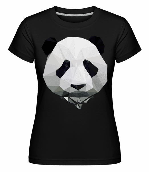 Polygon Panda -  Shirtinator Women's T-Shirt - Black - Vorn