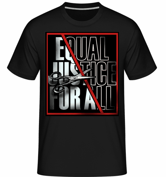 Equal Justice For All -  Shirtinator Men's T-Shirt - Black - Front