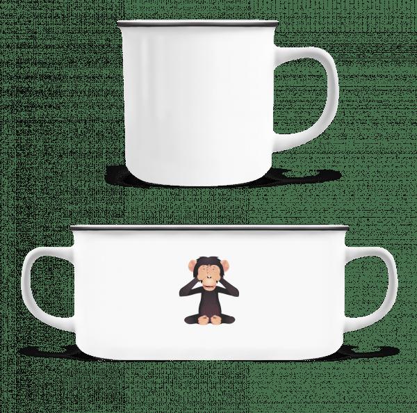 Blind Monkey - Enamel-cup - White - Vorn