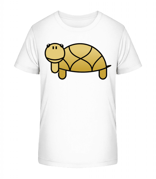 Turtle Comic - Kid's Premium Bio T-Shirt - White - Front