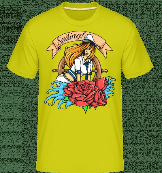 Sailor Girl -  Shirtinator Men's T-Shirt - Apple green - Vorn