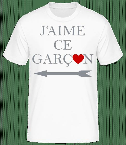 J'Aime Ce Garçon - T-shirt standard homme - Blanc - Vorn