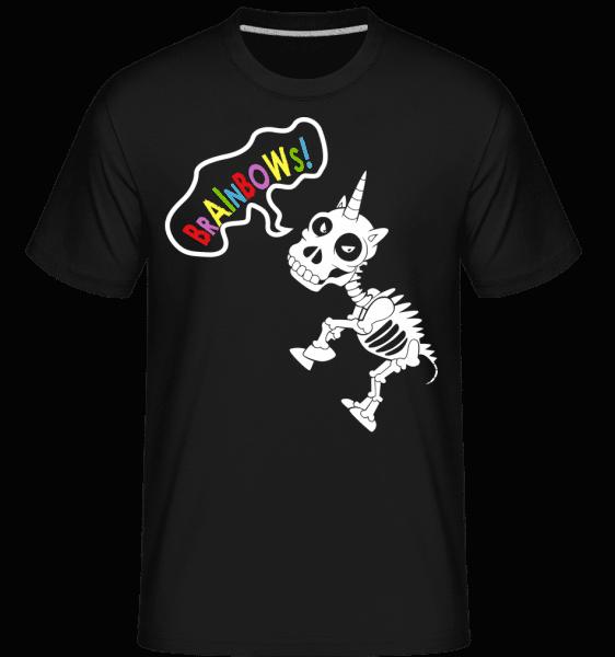 Mrtvé Unicorn Rainbows -  Shirtinator tričko pro pány - Černá - Napřed