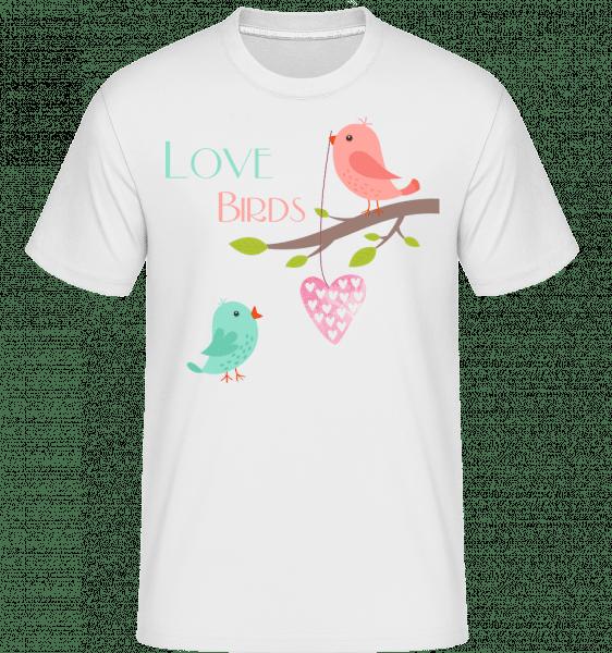 Love Birds -  Shirtinator Men's T-Shirt - White - Vorn
