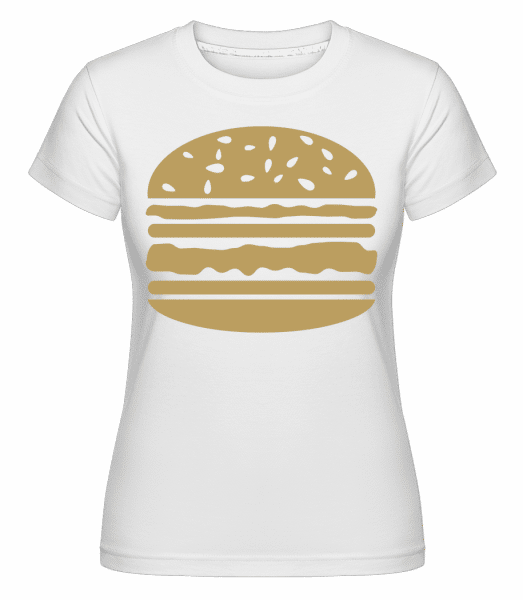 Served Burger -  Shirtinator Women's T-Shirt - White - Vorn