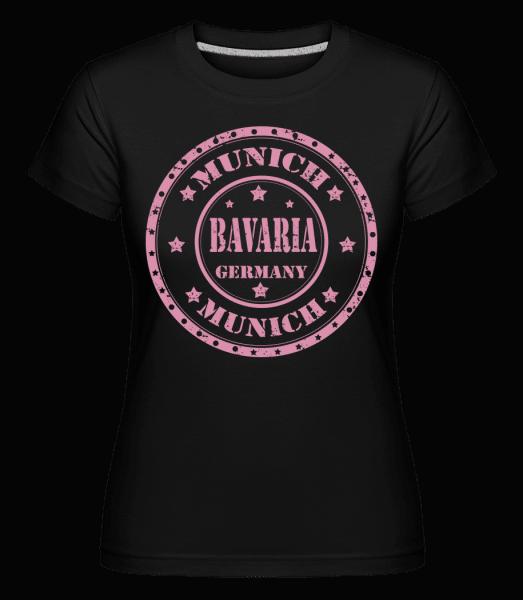 Mnichov Bavorsko -  Shirtinator tričko pro dámy - Černá - Napřed
