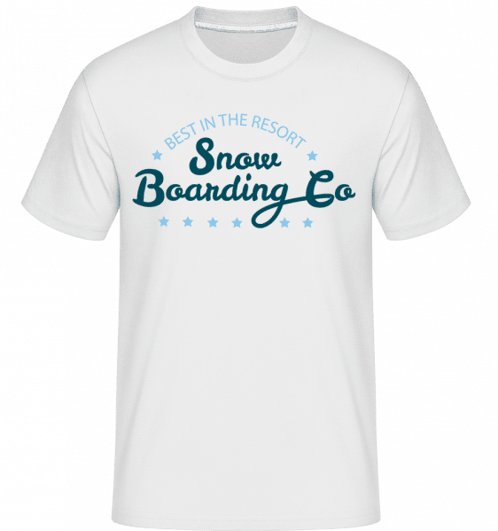 Snowboarding Co. Sign -  T-Shirt Shirtinator homme - Blanc - Devant