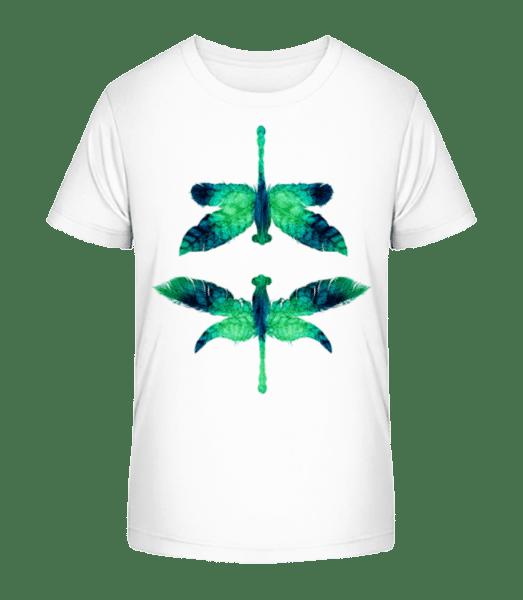 Leaf Dragonfly - Kid's Premium Bio T-Shirt - White - Vorn
