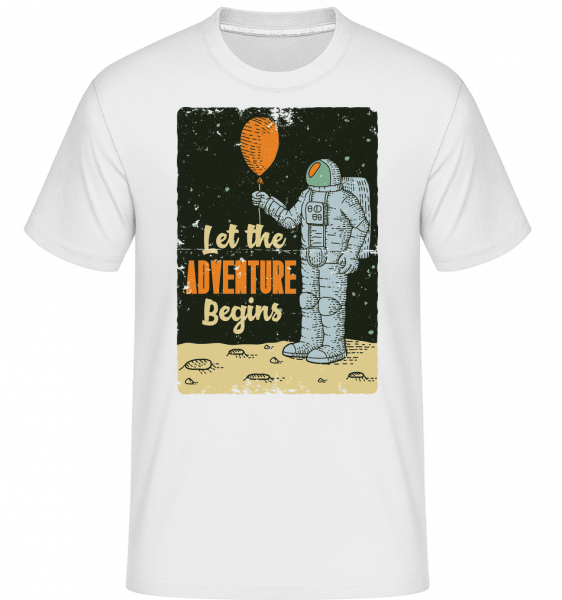 Astronaut Adventure Begins -  Shirtinator Men's T-Shirt - White - Front