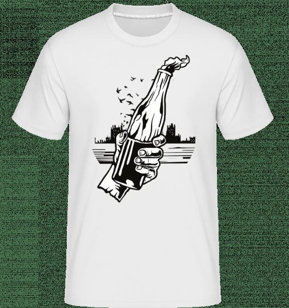 Molotov Cocktail -  Shirtinator Men's T-Shirt - White - Vorn